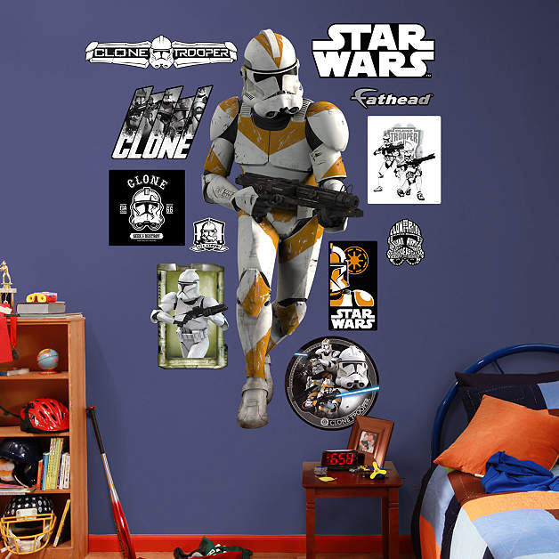 Fathead Clone Trooper Wall Graphic - Wall Sticker Outlet