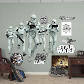 Fathead Star Wars Clone Trooper Group Wall Graphic