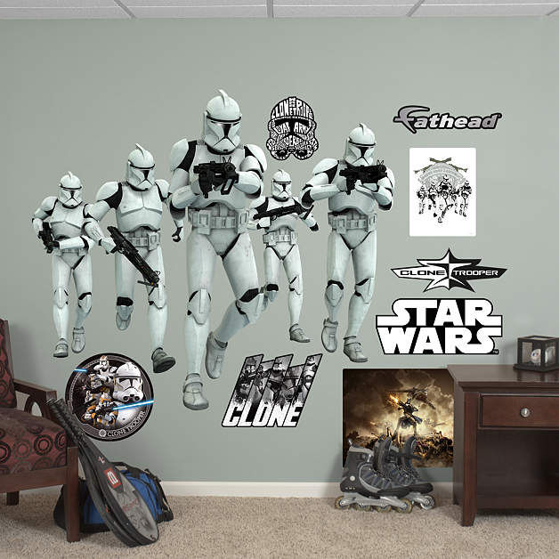 Fathead Star Wars Clone Trooper Group Wall Graphic - Wall Sticker Outlet