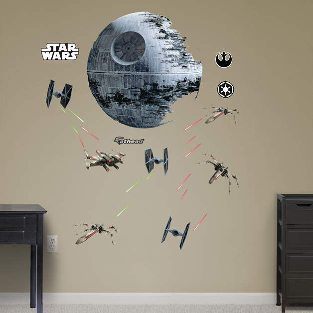 Fathead Star Wars Death Star Battle Wall Decals - Wall Sticker Outlet
