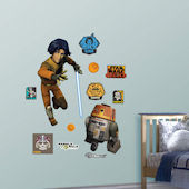Fathead Star Wars Ezra Bridger and Chopper Decals