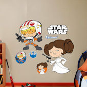 Fathead Star Wars Luke Skywalker Princess Leia POP