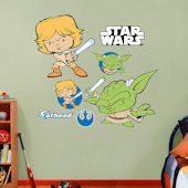 Fathead Star Wars Luke Skywalker and Yoda POP