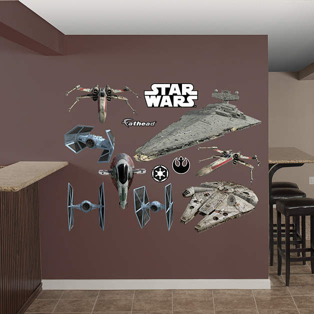 Fathead Star Wars Original Trilogy Vehicles Decals - Wall Sticker Outlet