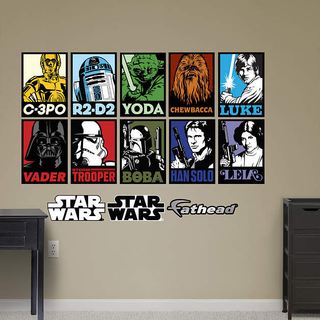 fathead star wars portraits mural the great wall of china mural wall decal shop fathead