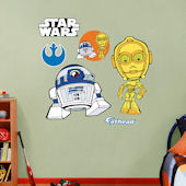 Fathead Star Wars C 3PO and R2 D2 POP Decal