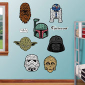 Fathead Star Wars Typography Collection Decals