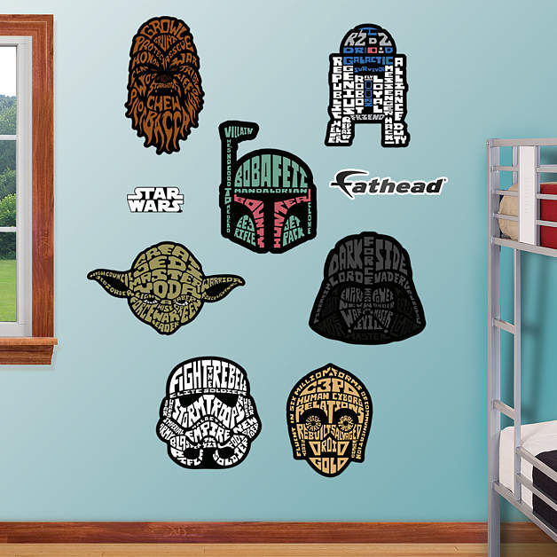 fathead star wars typography collection decals fathead martian manhunter wall decal