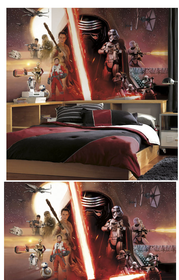 Star Wars Ep VII Prepasted XL Wall Mural  - Wall Sticker Outlet