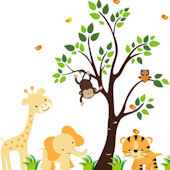 Sunshine Jungle Wall Mural Stickers