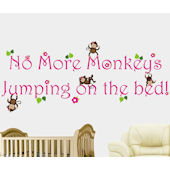 No More Monkeys Jumping On The Bed Girls Decal