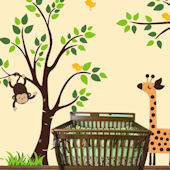 Sleepy Giraffe and Tree Extra Branch Wall Decals