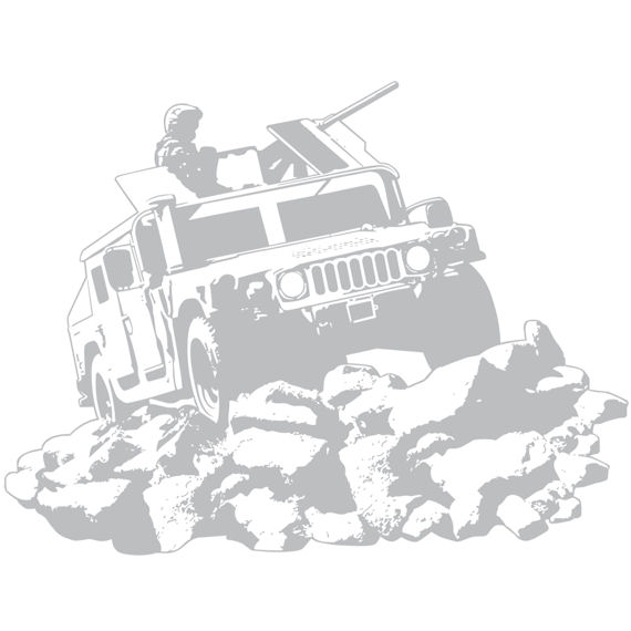 Sudden Shadows Humvee Wall Sticker - Wall Sticker Outlet
