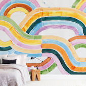 Minted Sun River Repositionable Wall Mural
