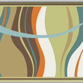 Groovy Waves Teal Minute Mural