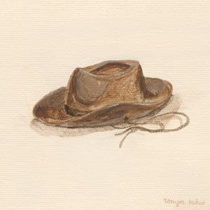 Childs Cowboy Hat Wall Canvas Art - Wall Sticker Outlet