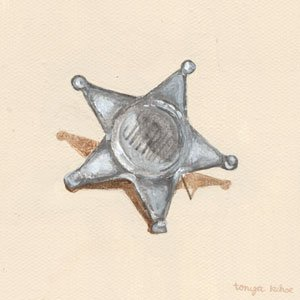 Old Sheriff Toy Badge Wall Canvas Art - Wall Sticker Outlet