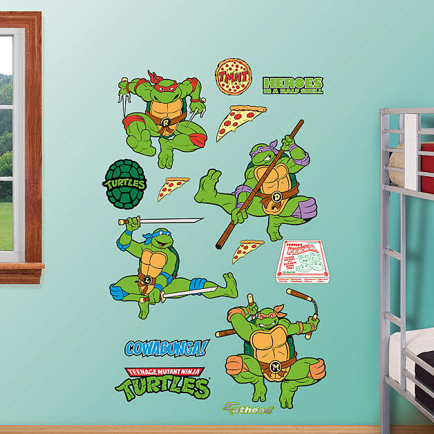 Fathead Classic Teenage Mutant Ninja Turtles Decal - Wall Sticker Outlet