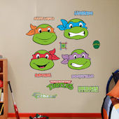 Fathead Teenage Mutant Ninja Turtles Faces Decals