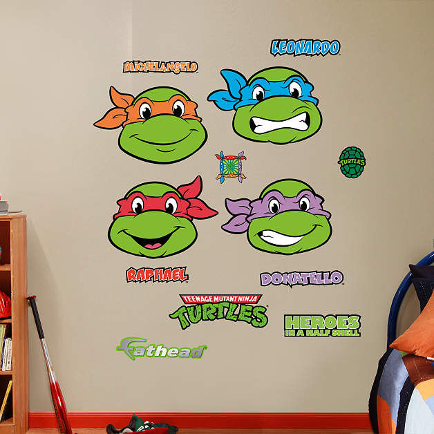 Fathead Teenage Mutant Ninja Turtles Faces Decals - Wall Sticker Outlet