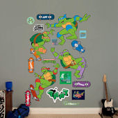 Fathead TMNT Classic Skateboard Wall Decal