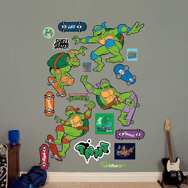 Fathead TMNT Classic Skateboard Wall Decal - Wall Sticker Outlet