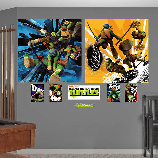 Fathead TMNT Dual Action Wall Murals - Wall Sticker Outlet