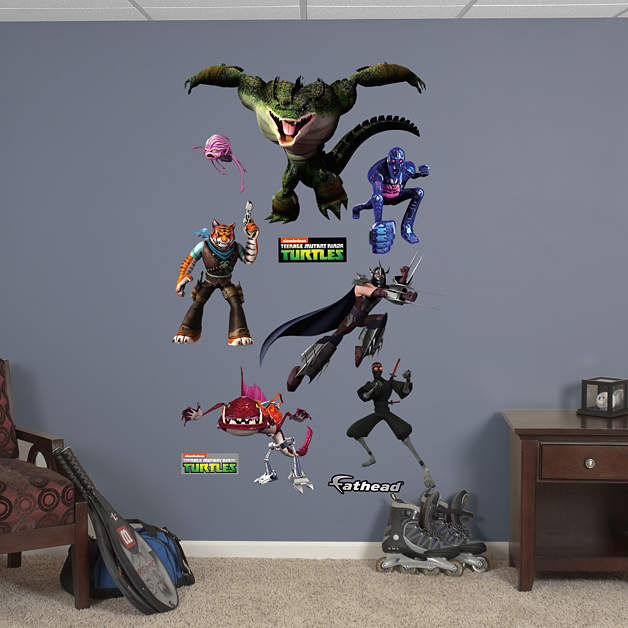 Fathead TMNT Movie Enemies Wall Decals - Wall Sticker Outlet