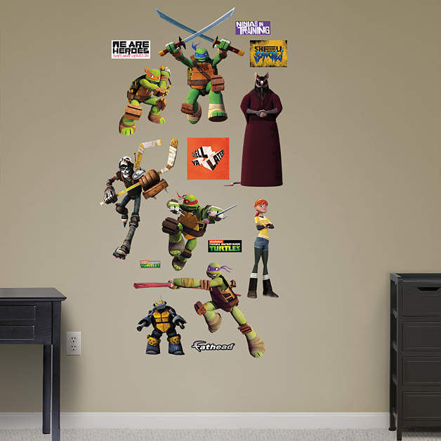 Fathead TMNT Heroes Wall Decals - Wall Sticker Outlet