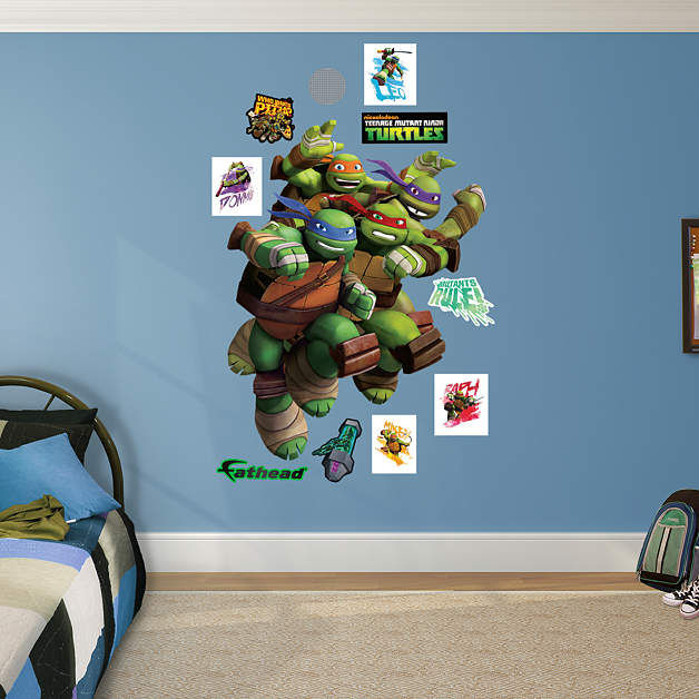 Fathead TMNT Heroes in a Half Shell Wall Decal - Wall Sticker Outlet