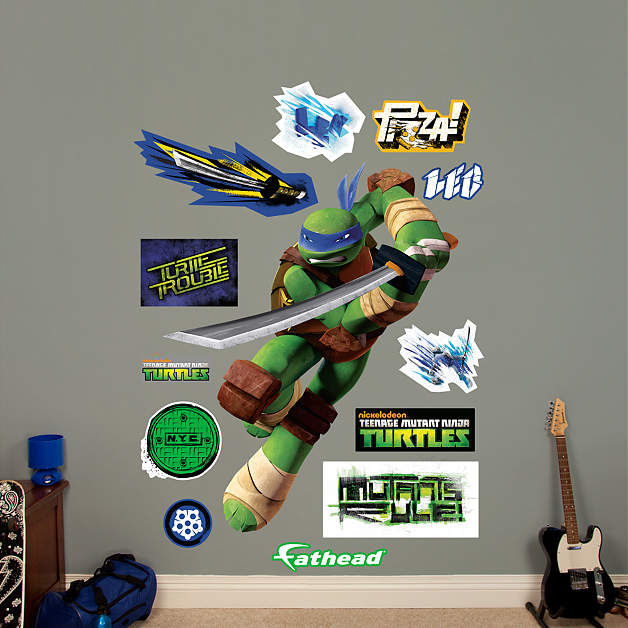 Fathead TMNT Leonardo Wall Decal - Wall Sticker Outlet