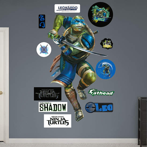Fathead TMNT Leonardo Movie Giant Wall Decal - Wall Sticker Outlet