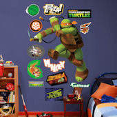 Fathead TMNT Michelangelo Giant Wall Decal