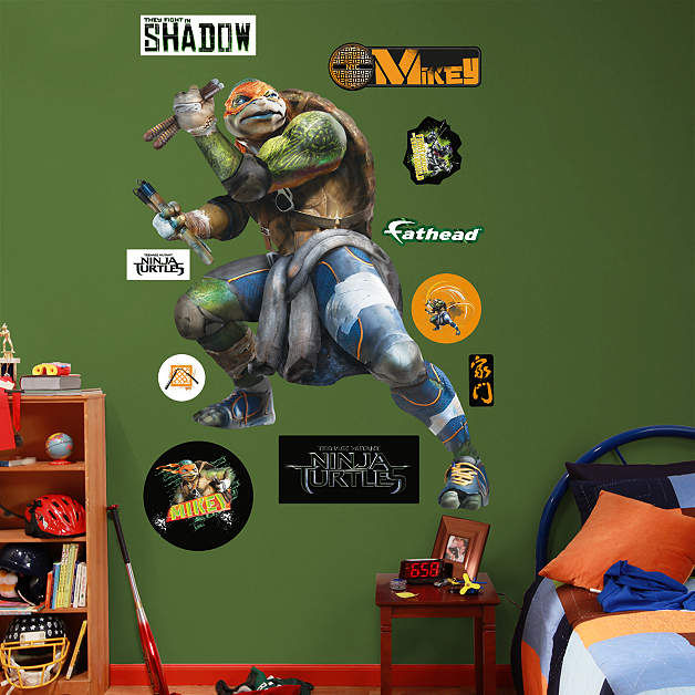 Fathead TMNT Michelangelo Movie Giant Wall Decal - Wall Sticker Outlet