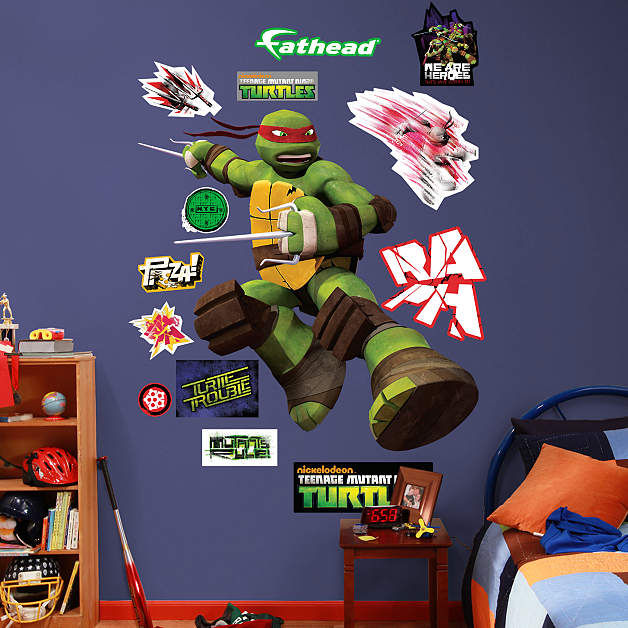 Fathead TMNT Raphael Wall Decal - Wall Sticker Outlet