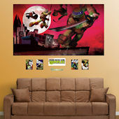 Fathead TMNT Rooftop Mural Wall Decals