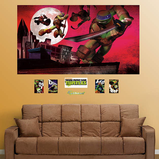 Fathead TMNT Rooftop Mural Wall Decals - Wall Sticker Outlet