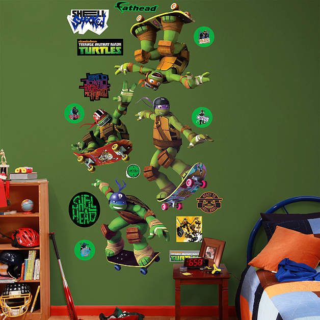 Fathead TMNT Skateboard Collection Wall Decal - Wall Sticker Outlet