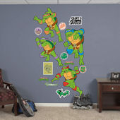 Fathead TMNT Classic Turtle Power Collection Decal