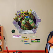 Fathead TMNT Goofy Faces Wall Decals