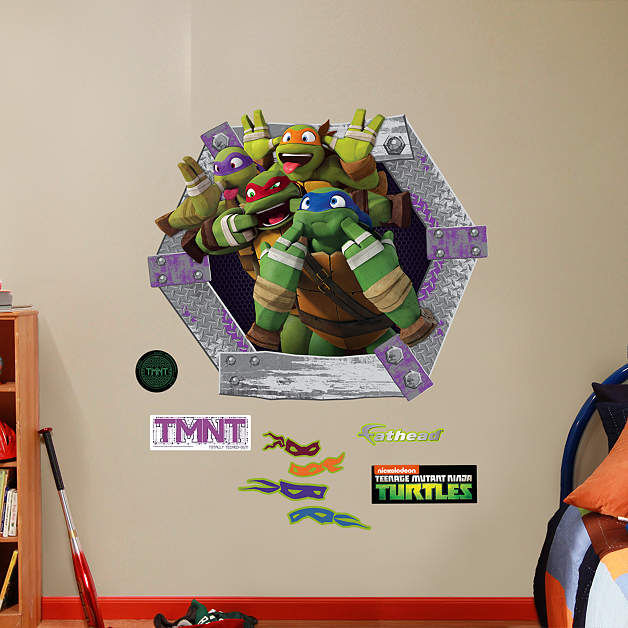 Fathead TMNT Goofy Faces Wall Decals - Wall Sticker Outlet