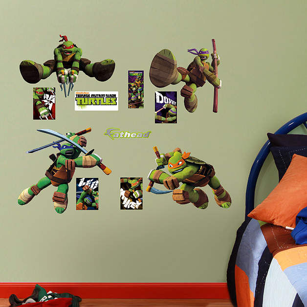 Fathead TMNT Jr  Wall Decals - Wall Sticker Outlet