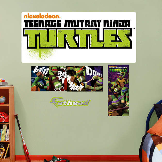 Fathead TMNT Logo Wall Decals - Wall Sticker Outlet