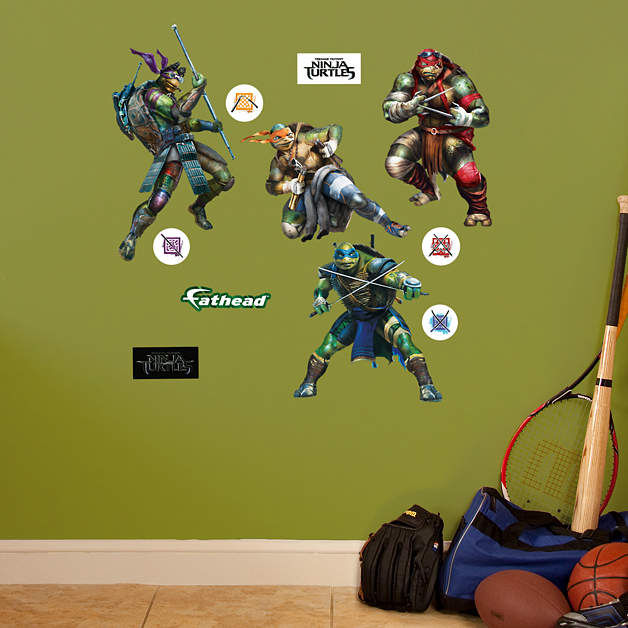 Fathead TMNT Movie Jr  Wall Decals - Wall Sticker Outlet