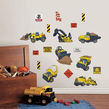 Tonka Truck Peel and Stick Wall Stickers - Wall Sticker Outlet
