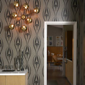 Etta Black And Clay Peel And Stick Wallpaper