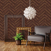 Herringbone Walnut Peel And Stick Wallpaper