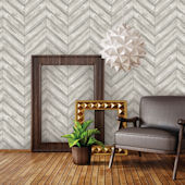 Herringbone Ash Peel And Stick Wallpaper