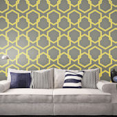 Honeycomb Citron Peel And Stick Wallpaper