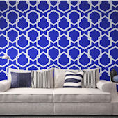 Honeycomb Deep Blue Peel And Stick Wallpaper
